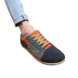 $17.23 Laconic Men's Casual Shoes With Color Matching and Round Toe Design
