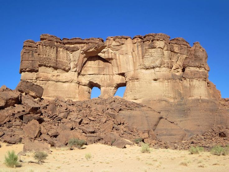 This sandstone formation at Archei in the Ennedi Mountains of northeastern Chad, Central Africa, is called The Mask.