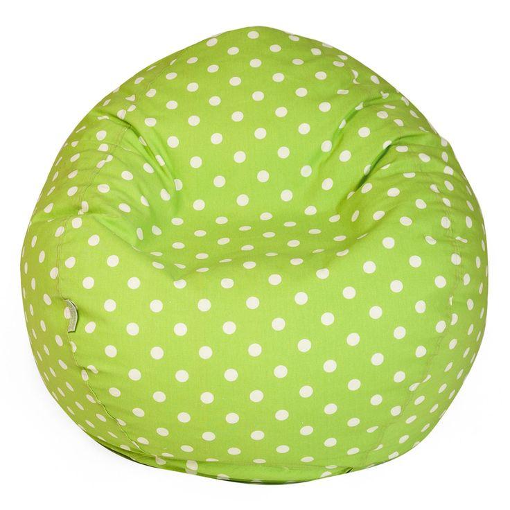 Lime Small Polka Dot Classic Bean Bag