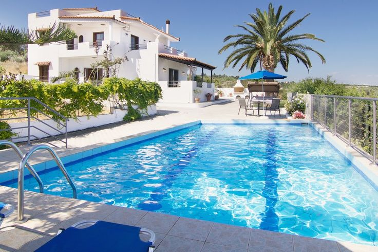 www.aetosvilla.gr Aetos villa Crete #villa #crete #greece #luxury #holidays #vacation_rental #aetos #pool_area #pool #garden #sea_view #private