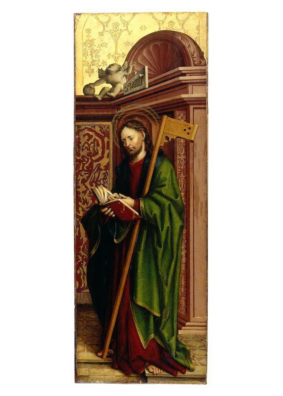 Schaffner, Martin (attributed), The Apostle James the Less. Painting on fir. 134 x 48,6 cm, Gm269, Germanischen Nationalmuseum Nürnberg
