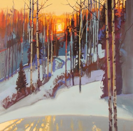 Ridge Light at Bachelor Crest stephen quiller acrylic 24 x24