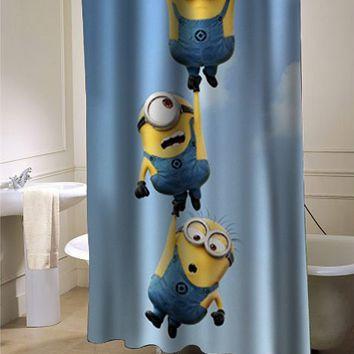 despicable me minion shower curtain