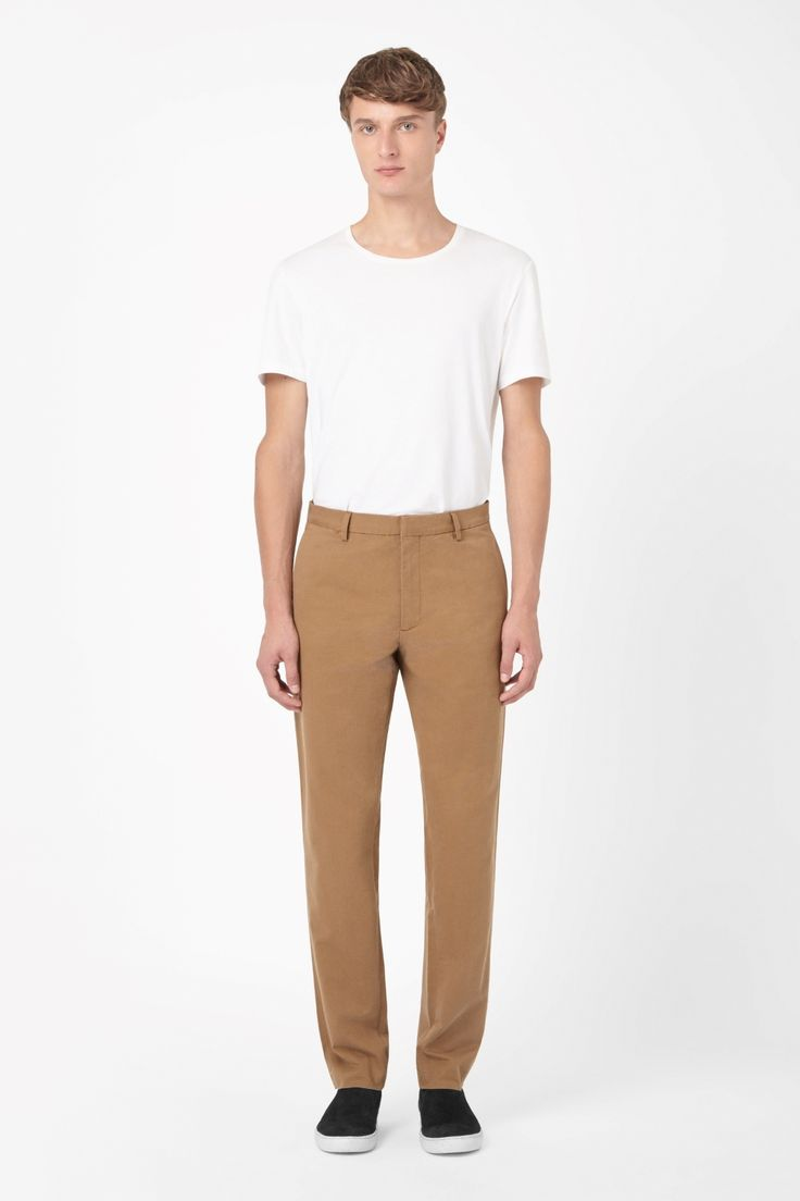 cos, brown chinos