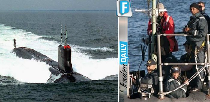 Onlookers Shocked At What They See Flying Next To Our Flag On Nuclear Submarine In U.S. Waters