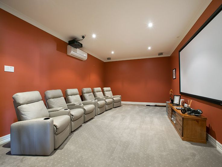 Coreen Manor -  Well equipped media room with huge fixed screen and individual leather recliners.