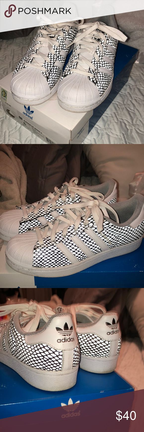 Adidas super star size 6 Worn and few time buts in great condition Adidas Shoes Athletic Shoes