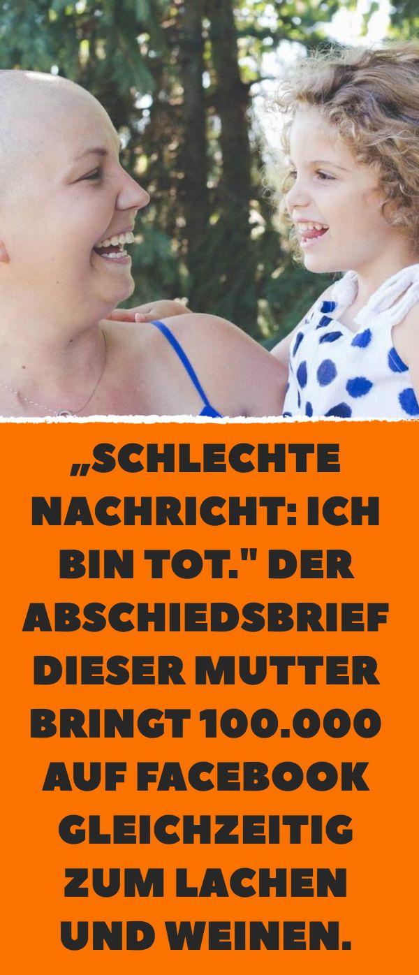 """""""Schlechte Nachricht: Ich bin tot."""" Der Abschiedsbrief dieser Mutter bringt … – Tanja Götze"""