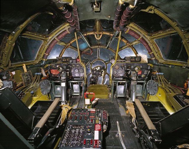 Cockpit of the Enola Gay