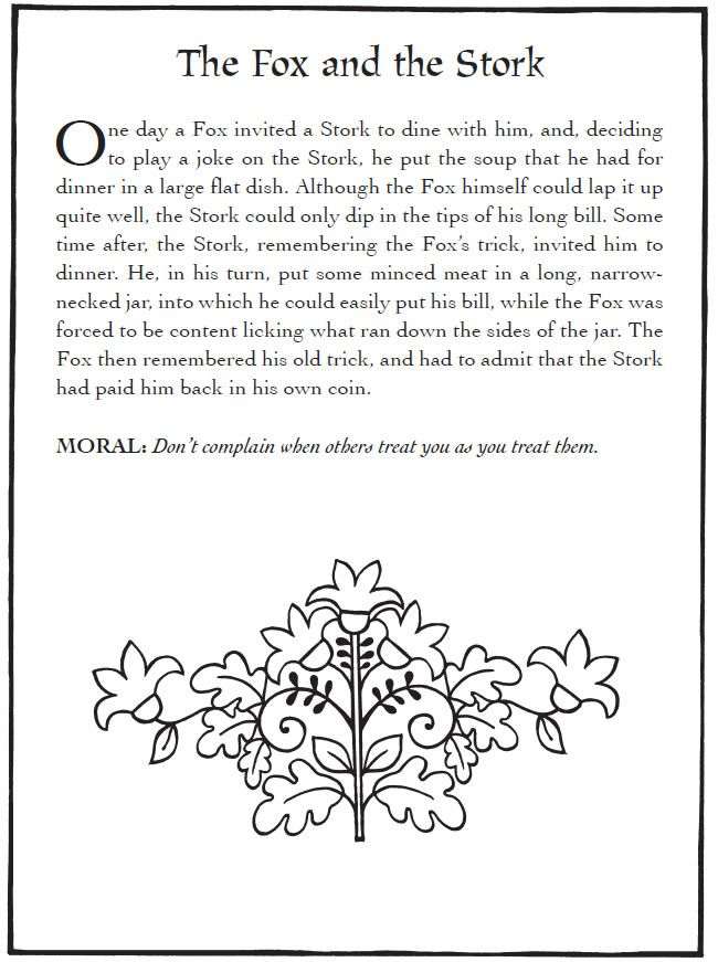 aesop fable coloring pages - photo#34
