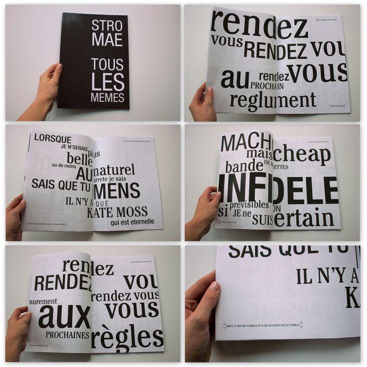 Visuele partituur - lyrics Stromae Sien Verhavert ©
