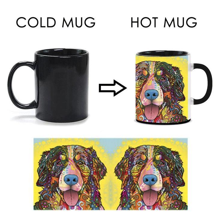 Bernese Mountain Dog Heat Activated Mugs - Dean Russo Art