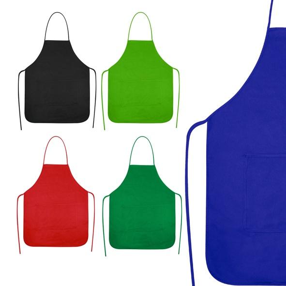 COD.EC011 Delantal-Pechera de Cocina, en Tela TNT, 100% reciclable y biodegradable (lavable). Incluye bolsillo delantero grande. Tamaño: 59x70 cm. Bolsillo: 35x18 cm. Aprox.