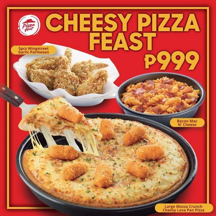 Cheesy Pizza Feast At Pizza Hut In 2020 Pizza Hut Bacon Mac And Cheese Cheesy