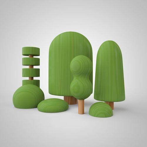 trees-set   3D Print Model