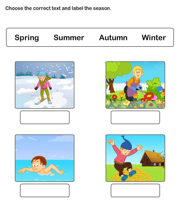 Seasons Worksheet 4 - science Worksheets - kindergarten Worksheets