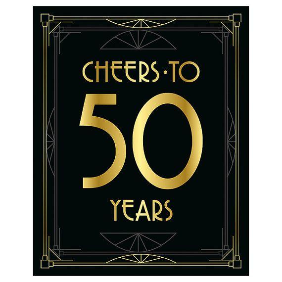 Printable 50th Birthday Decor