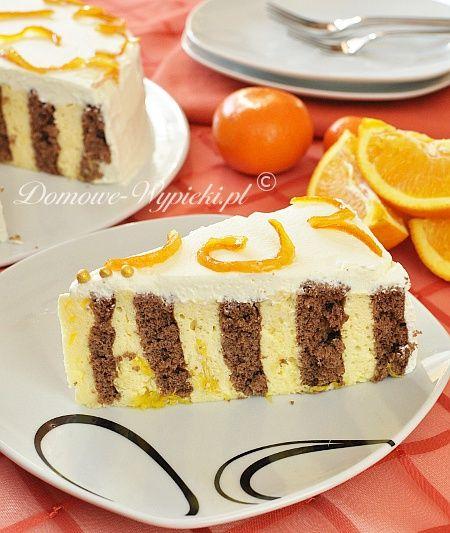 Zawijany tort pomarańczowy
