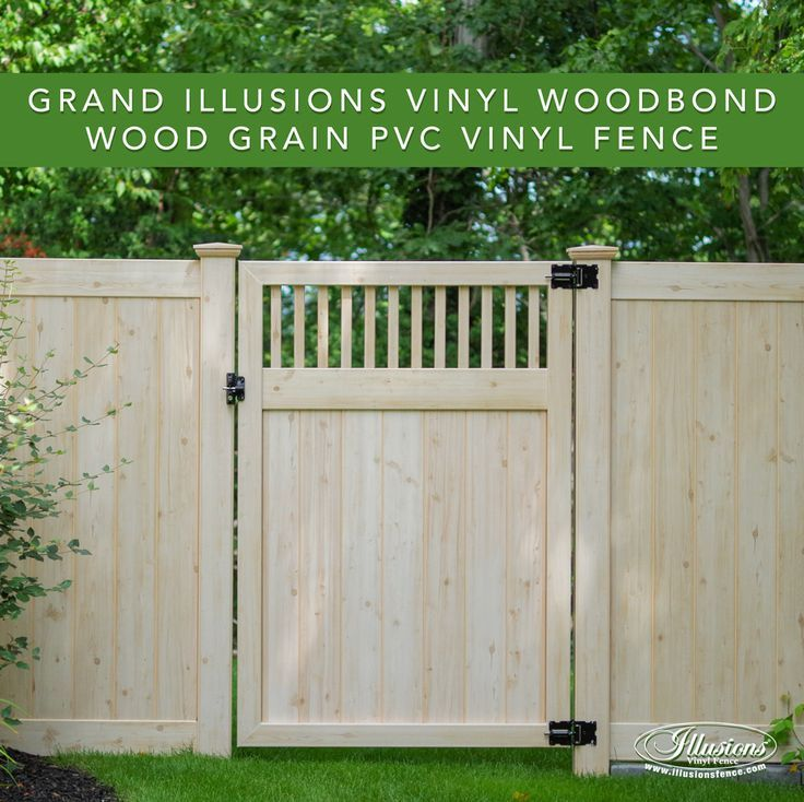 Pvc Vinyl Wood Grain Fence That Looks Like Real Eastern White Cedar Privacy From Illusions Fenceideas