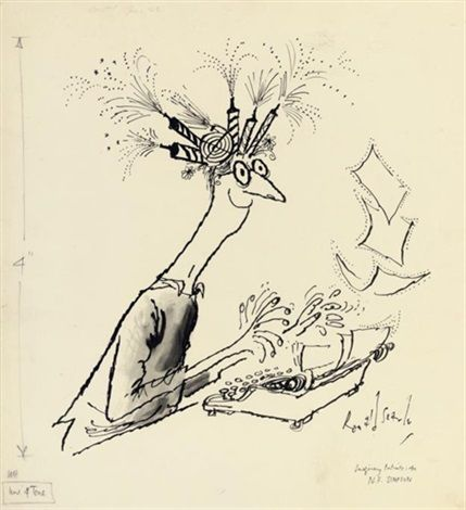 Imaginary portraits, N.F. Simpson by Ronald Searle