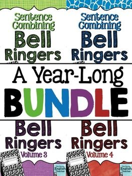 This bundle contains enough bell ringers for an entire year! Improve your students' writing by getting them to actively think about syntax as they write!