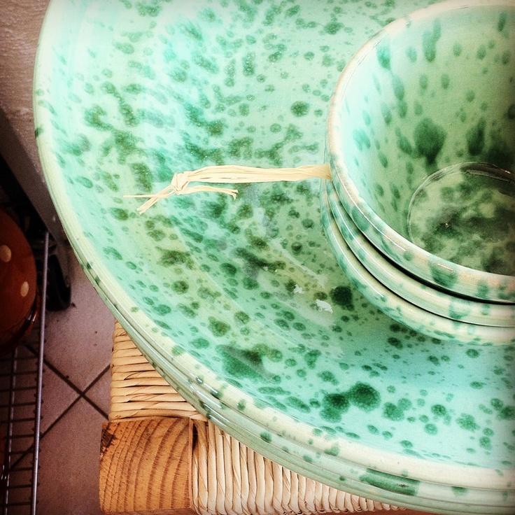 Fasano Italian speckled ceramics greenbeenfood