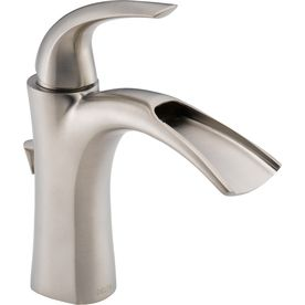 Delta�Nyla Stainless 1-Handle Single Hole WaterSense Labeled Bathroom Sink Faucet (Drain Included)
