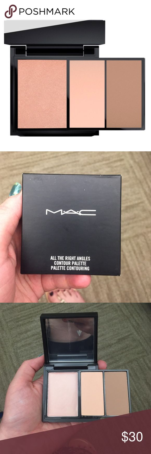 NIB MAC Contour Kit in Medium MAC's contour kit in Medium shade. Brand new still in box, never been swatched. Comes with a cream color base and a sculpting powder and shaping powder. MAC Cosmetics Makeup Face Powder