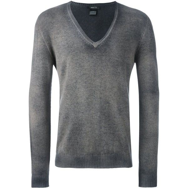 Avant Toi v-neck cardigan ($552) ❤ liked on Polyvore featuring men's fashion, men's clothing, men's sweaters, grey, mens grey sweater, mens v-neck cashmere sweaters, mens v neck cardigan sweater, mens gray sweater and men's v neck sweater