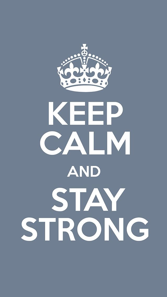 Keep Calm and Stay Strong In The Faith