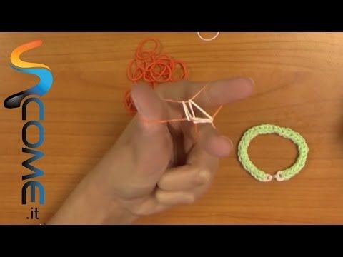Tutorial braccialetti elastici con 3 dita - elasticolor - YouTube