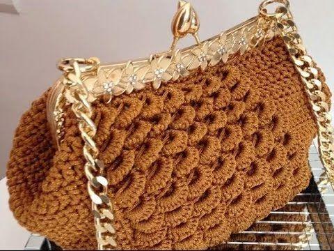 #Crochet Little Girls Handbag clutch Purse crochet TUTORIAL #67 - YouTube