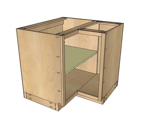 Ana White Build A 36 Corner Base Easy Reach Kitchen Cabinet Basic Model Free And Diy Project Furniture Plans