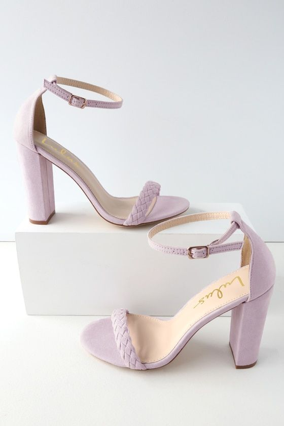 a1359827b The Lulus Taylor Braided Lilac Suede Ankle Strap Heels will always keep your