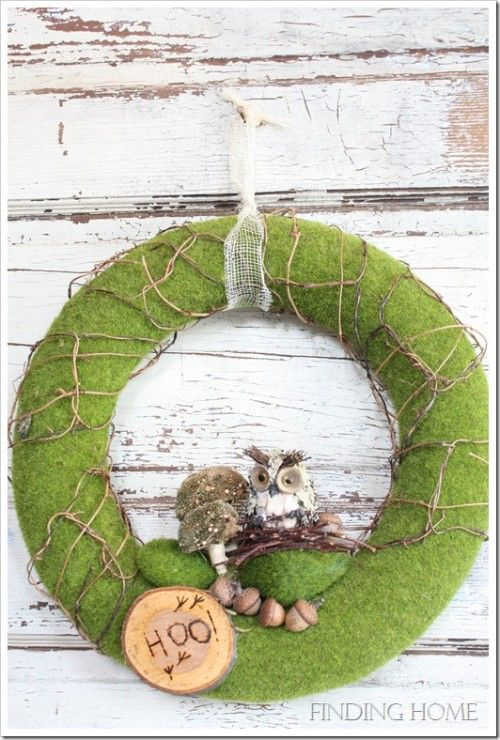 101 Cool Fall Wreath Ideas | Shelterness, :o) good site, great ideas