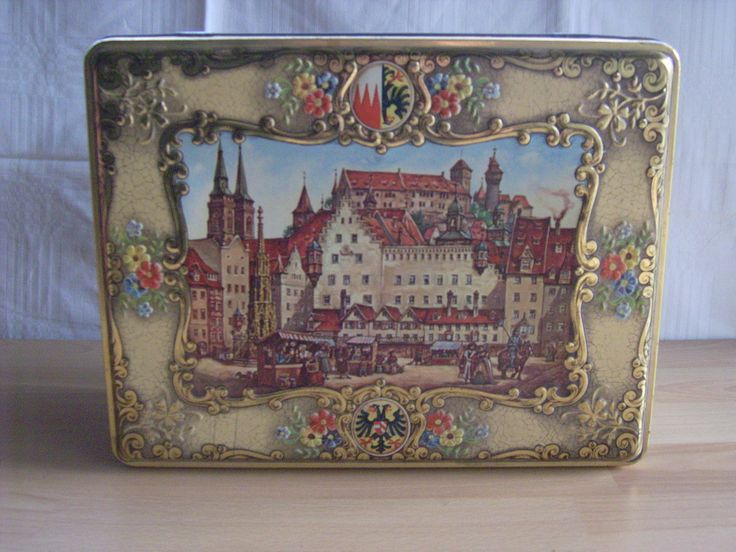Popular Alte gro e Lebkuchendose Blechdose N rnberg Otto Schmidt