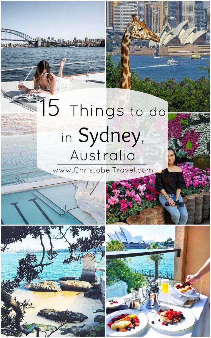 15 Things to do in Sydney, Australia – You must Sail on Sydney's Harbor & Camp at Cockatoo Island. Other places to see are: Sydney Harbor Bridge, Sydney Opera House, Botanic Gardens, Camp Cove, Spice Alley for Asian food, Bondi Icebergs Pool, Blue Mountains, Momofuku Seiobo Restaurant, Hacienda, Taronga Zoo, Wendy Whiteley's Secret Garden & Park, Rocks Walking Tours, Hubert Restaurant and Gordon's Bay. Travel Photography in a Yacht