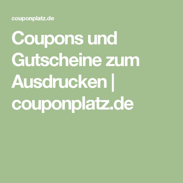 die besten 25 coupons zum ausdrucken ideen auf pinterest gutschein design voucher und ticket. Black Bedroom Furniture Sets. Home Design Ideas