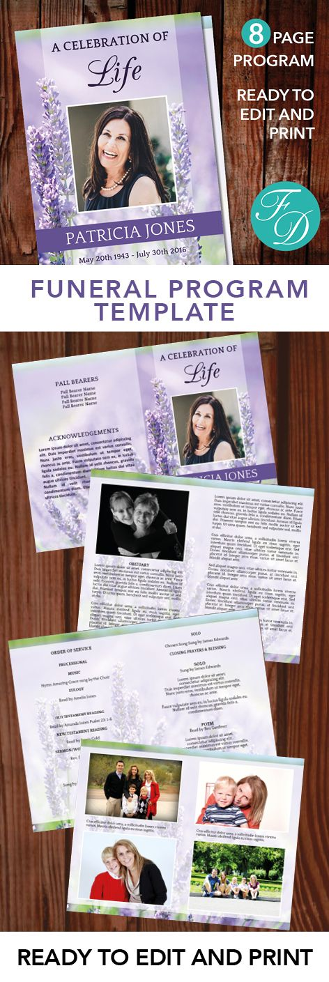 The 25+ best Funeral order of service ideas on Pinterest - memorial pamphlet template free