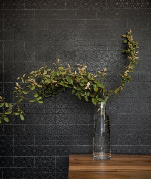 KISMET ANDROMEDA ceramic tile in ONYX glaze, LANTERN Restaurant, Chapel Hill, 2013