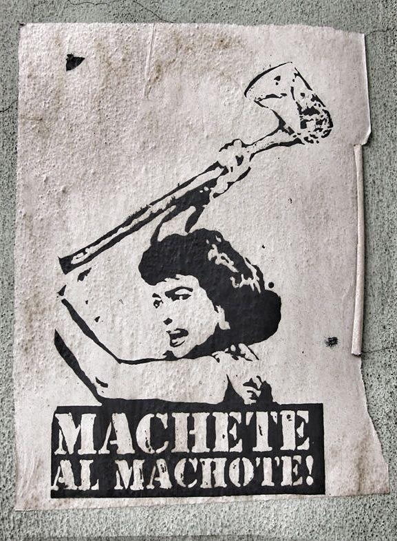 Feminist street art- Oaxaca, Mexico