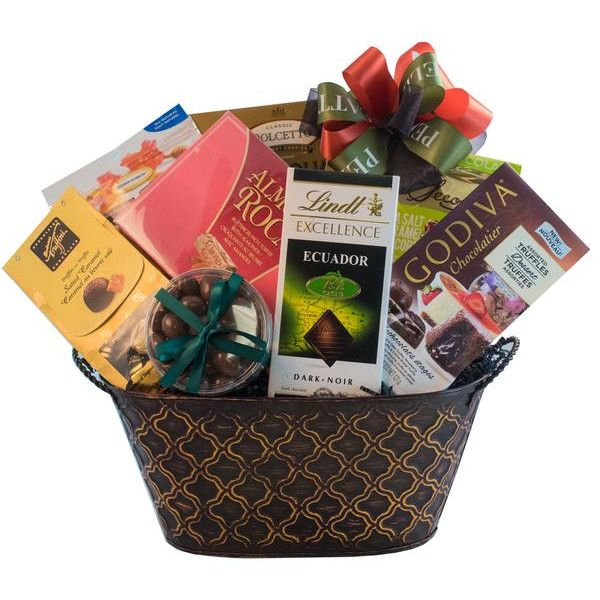 Thank Chocolate Gift Basket This Basket Full Of Chocolate Covered