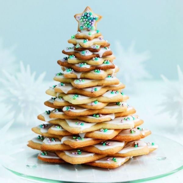 Weihnachtsbaum basteln Schmuck-Lebkuchen Backen-Arrangement