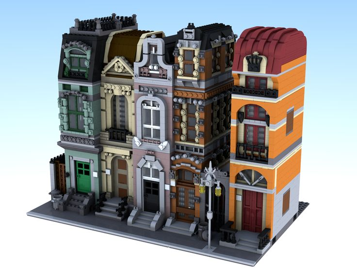 LEGO Building Images | The next building is an orange modular building, using manly orange ...