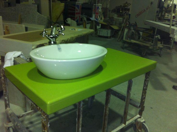 Top bagno in agglomerato al quarzo lavello lavandino