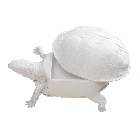 Box Turtle Box in White by Areaware - Pop! Gift Boutique