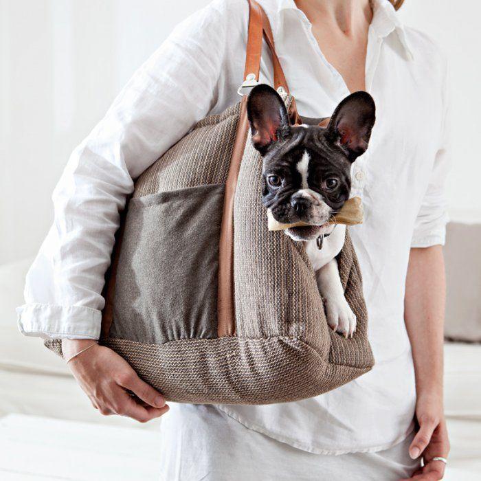 Un sac molletonné pour transporter son chien
