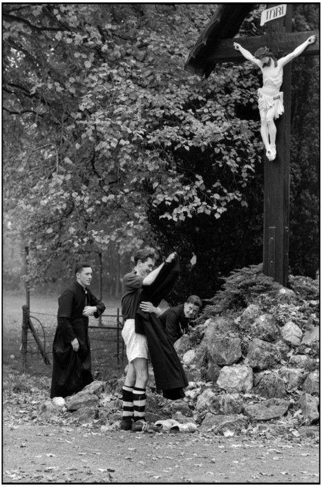 Henri Cartier-Bresson, Seminary at Maynooth, Kildare County,  Ireland, 1962