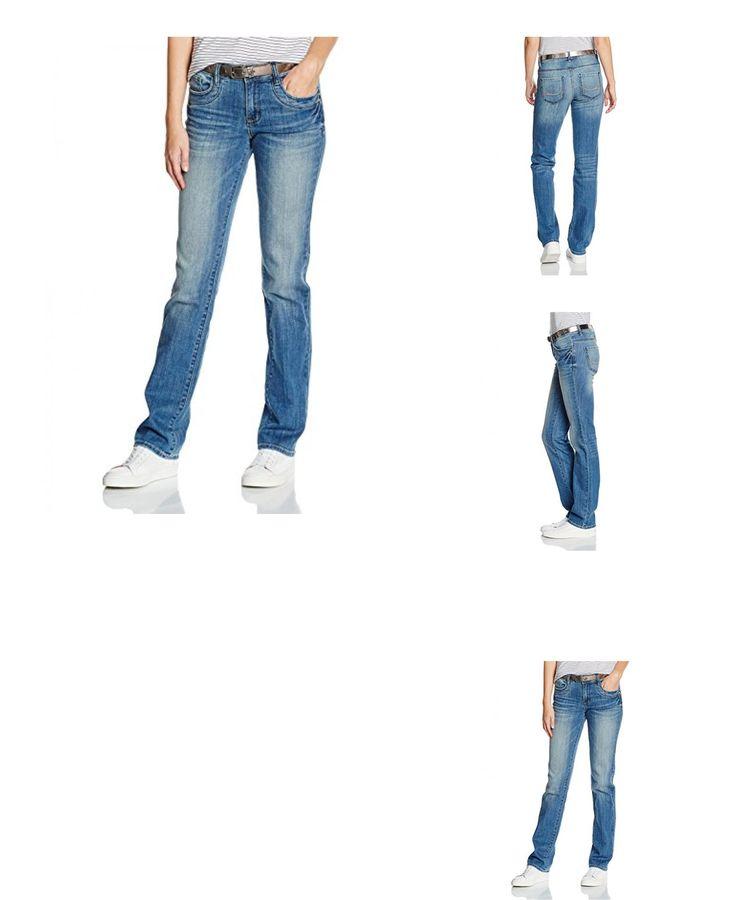 4057655649180 | #TOM #TAILOR #Damen #Jeanshose #Jeans #Straight #Alexa #with #Belt, #Blau #(Mid #Stone #Wash #Denim #1052), #W27/L32 #(Herstellergröße: 27)