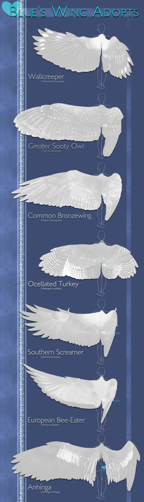 採用:翼は1ブルー・ハーツによって[売り切れ]